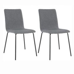 2 kusy, jedálenská stolička, tmavosivá/čierna, RENITA
