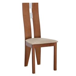 Drevená stolička, čerešňa/látka béžová, BONA