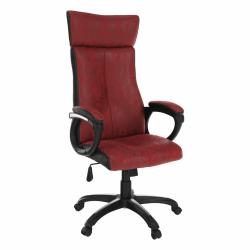 Kancelárske kreslo, červená/čierna, MERSIN, poškodený tovar