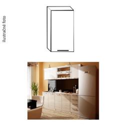 Kuchynská skrinka, ľává, biely lesk, ITA G-40