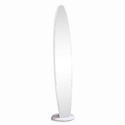 Stojanové zrkadlo, biela, TARAN