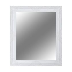 Zrkadlo, biely drevený rám, MALKIA TYP 13