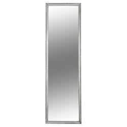 Zrkadlo, strieborný drevený rám, MALKIA TYP 3